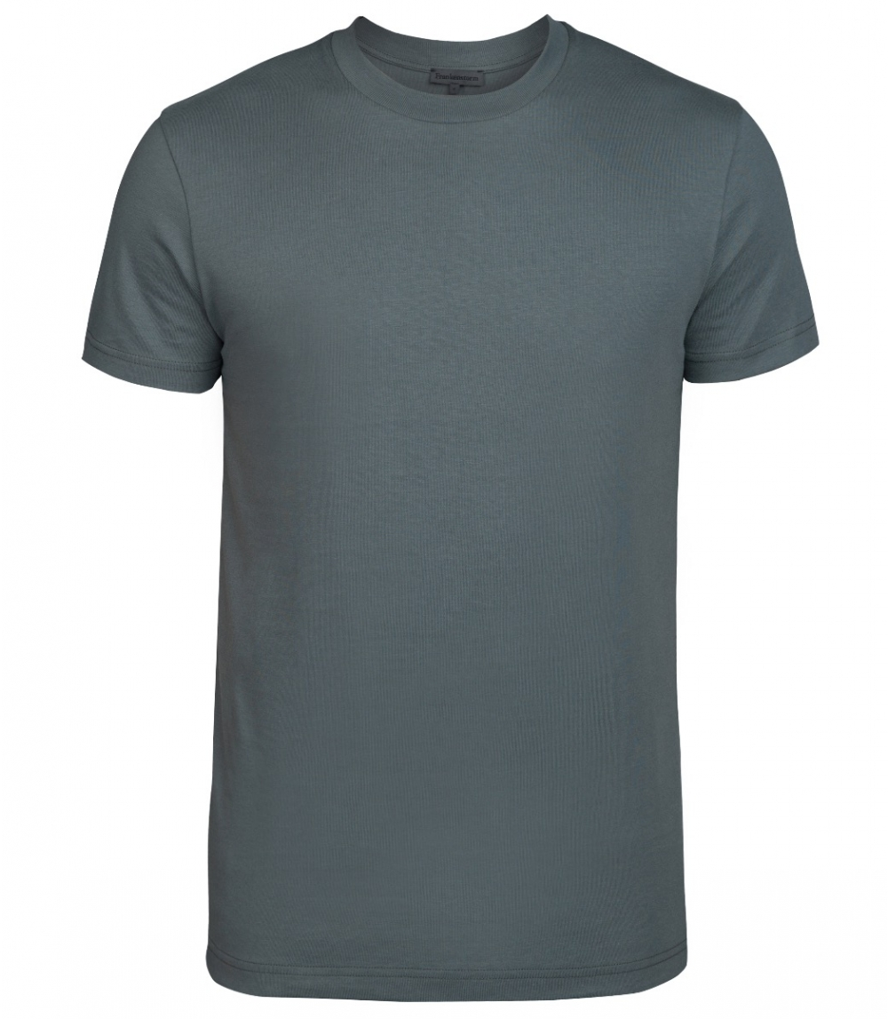 MAN COTTON T-SHIRT REGULAR FIT, Antracite