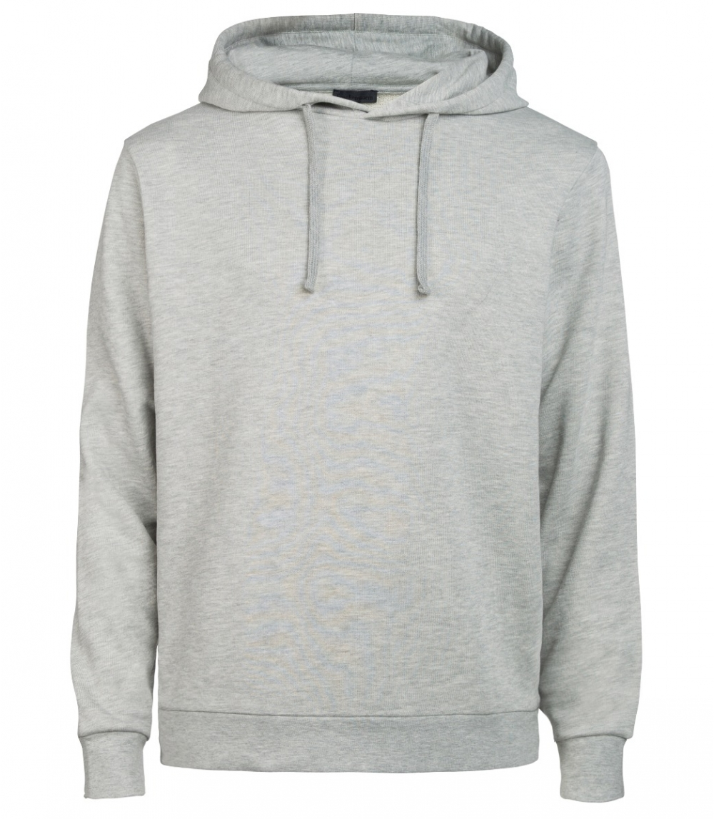 MAN COTTON HOODIE REGULAR FIT, Grey Melange