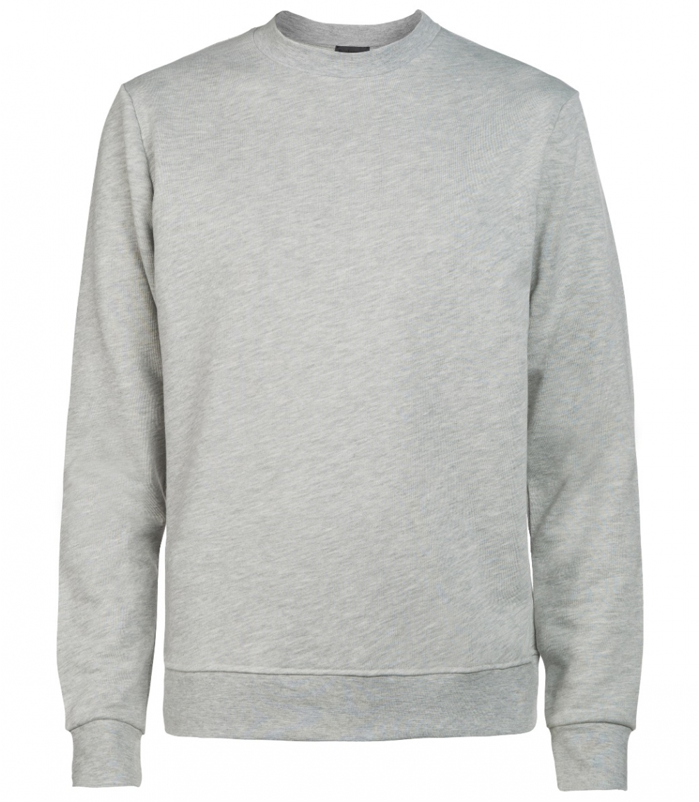 MAN COTTON SWEATSHIRT REGULAR FIT, Grey Melange