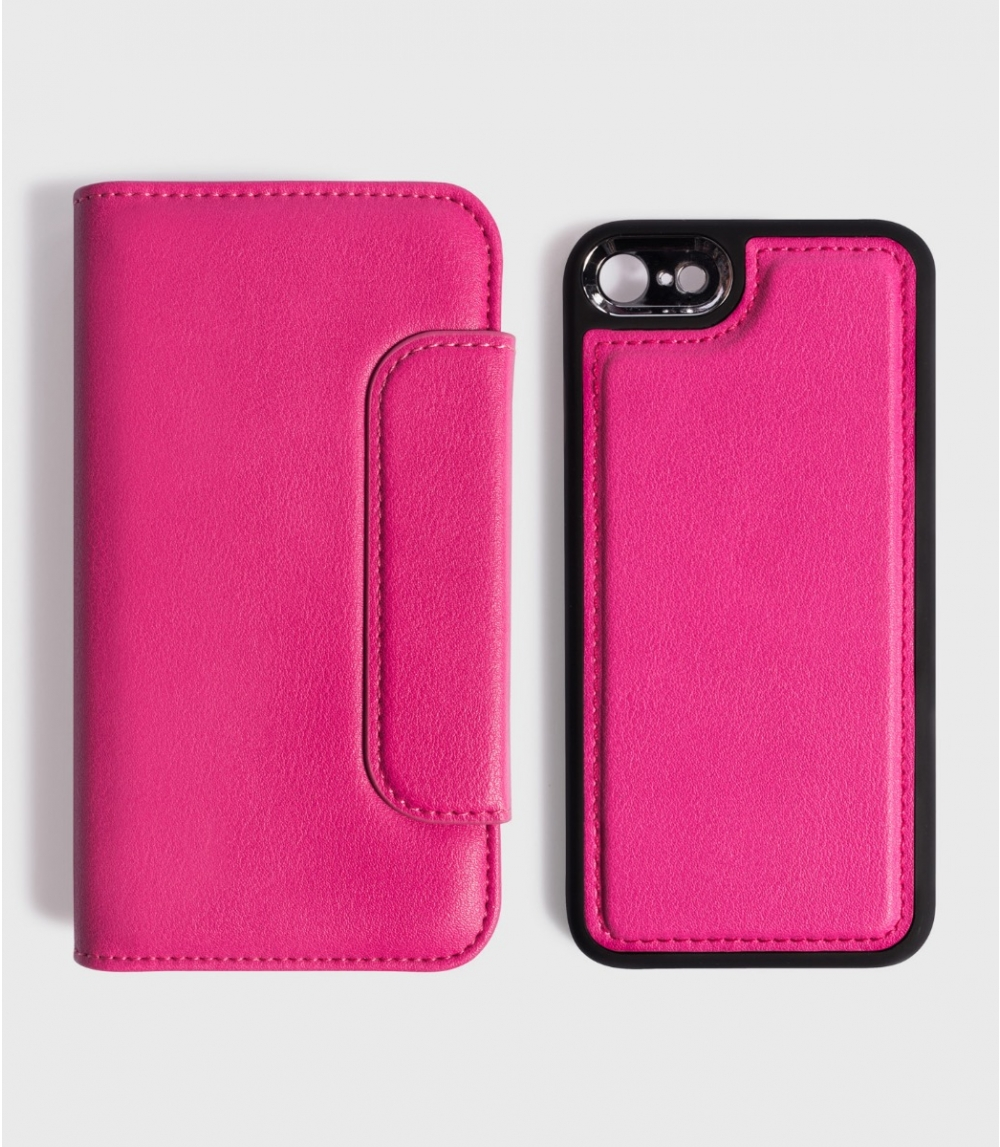 MAGNETIC FLIPCASE WALLET IPHONE 6/6S, 7/7S, 8/8S, Punch Pink