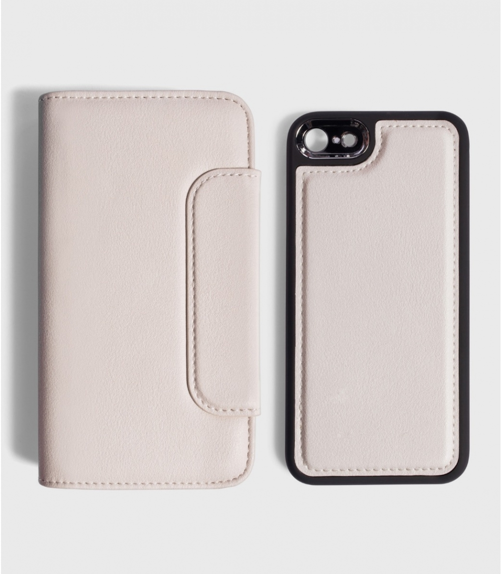 MAGNETIC FLIPCASE WALLET IPHONE 6/6S, 7/7S, 8/8S, Cold Offwhite