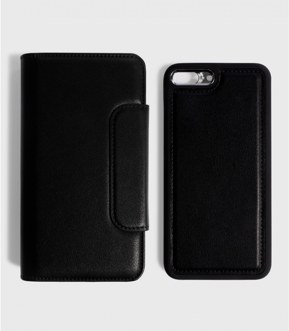 MAGNETIC FLIPCASE WALLET IPHONE 7PLUS / 8PLUS , Black