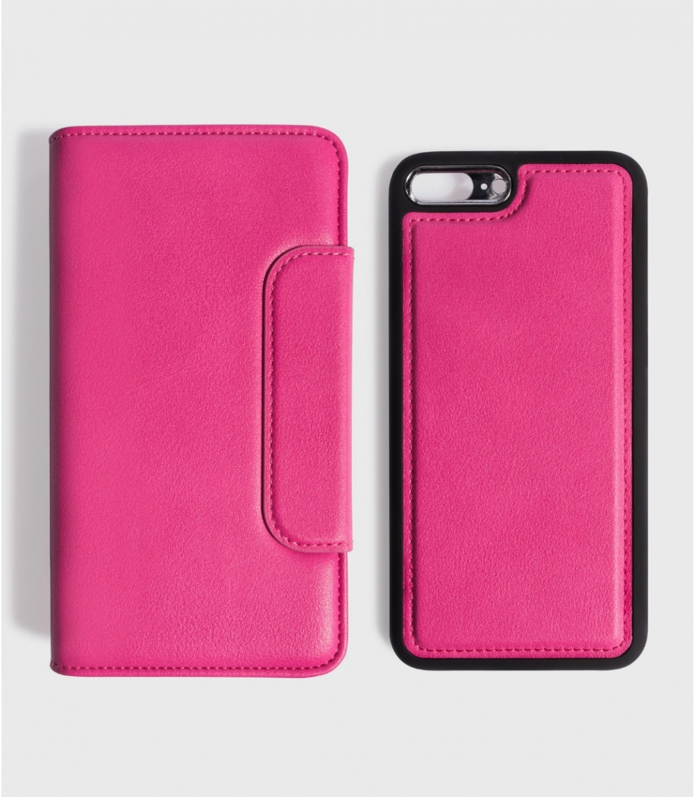 MAGNETIC FLIPCASE WALLET IPHONE 7PLUS / 8PLUS , Punch Pink