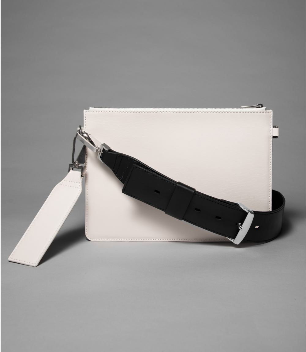 SHOULDER BAG, Cold Offwhite/Black