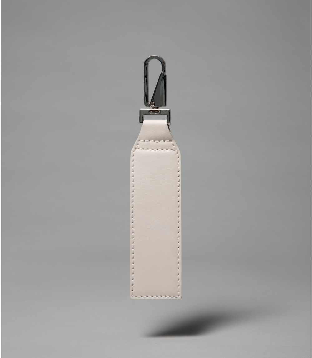 BAG ACCESSORY/KEY RING NEW, Cold Offwhite