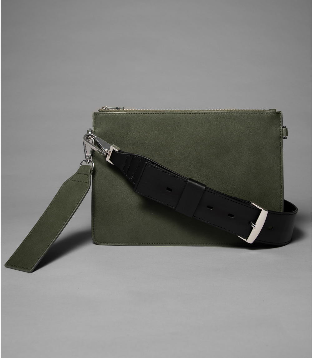 SHOULDER BAG, Deep Green/Black
